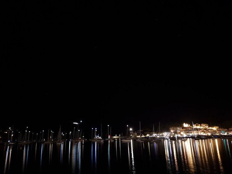 Soller, Mallorca Bahia De Soller De Noche EyeEm Gallery Larga Exposicion Disfrutando De La Vida