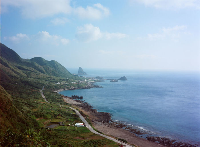 A beautiful island in Taiwan call Lanyu. Adventure Beauty In Nature Blue Sky Cloud Grass Island Island Life Landscape Mountain Mountains Natrual Beauty  Natural Nature Nature No People Non Urban Scene Outdoors Road Roadtrip Sea Sea And Sky Sky Water