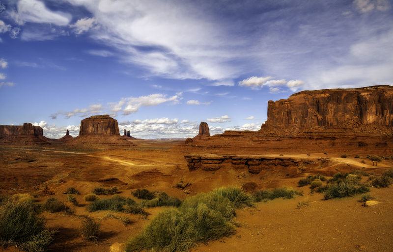 Monument Valley is the home of American cowboy movie sets. Sky Rock Beauty In Nature Rock Formation Nature Scenics - Nature No People Adventure Landscape Landscape Photography Travel Travel Photography Movies Nature Nature Photography Outdoors Outdoor Photography Park Colors Canyons Landmarks Clouds Mountains John Ford Point