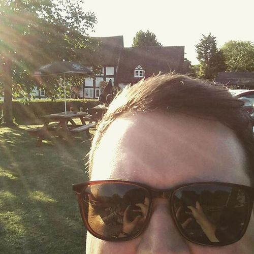 What more do you need? Coldbeer Beergarden  Sunshine Summerevening Quiteliketolivehere Crownandrose Severnstoke