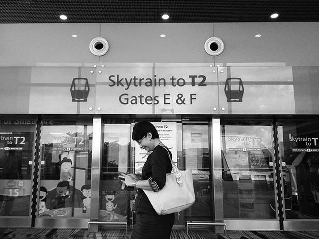 Skytrain to T2 Terminal2 Changiairport ChangiairportT3 Terminal3 Singapore Snapseed Samsung Samsunga3 Photography Insta_sg Igersmyanmar Instapic Instagood Instagramers Blackandwhite Snapshot Showcase: February Februaryphotochallenge The Tourist