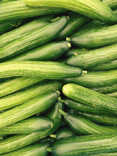 Full Frame Shot Of Zucchinis For Sale In Market