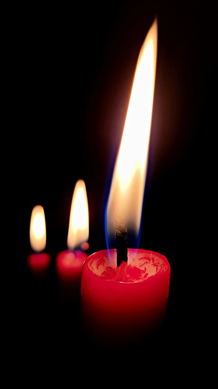 flame, burning, candle, heat - temperature, glowing, illuminated, melting, close-up, no people, red, indoors, black background, diya - oil lamp