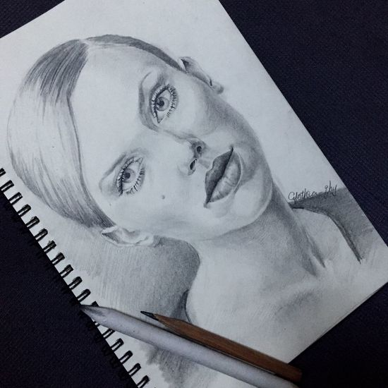Art Drawing ArtWork Scarlett Johansson Art, Drawing, Creativity Painting