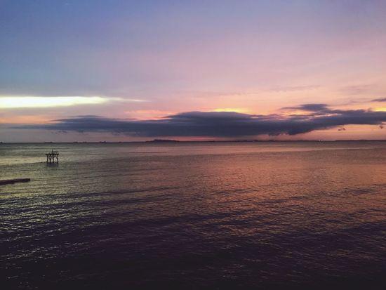 Закат пляж Море China Zh 中国 китай