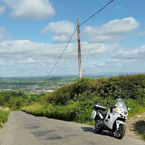 Looking out to Welshpool, Wales. Bmw Summer Welshpool Wales Motorbike Touring Bmw Motorcycle Motorcyle