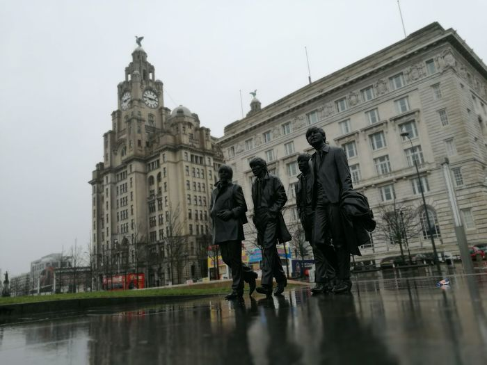 Built Structure Travel Architecture Travel Destinations Tourism Building Exterior City Tourist Sky People Rain Outdoors City Architecture No People Liverpool Docks Liver Building Liverpool, England The Beatles Ringo Starr George Harrison John Lennon Paul Mccartney Liverpool Rainy Days