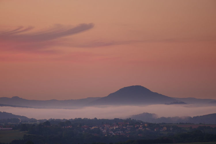 View from bastei bridge at sunrise