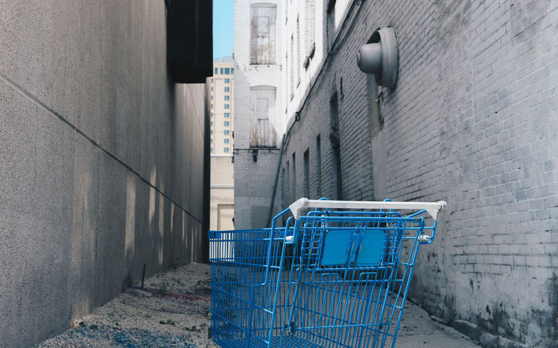 Post-capitalistic Society Shopping Cart Architecture Building Exterior Built Structure City Consumerism Day No People Outdoors Shopping Cart Supermarket