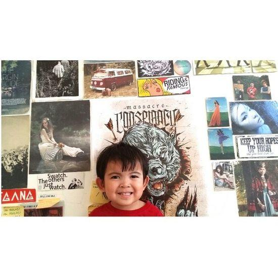 iman bergambar dpn the wall of fame...Iman Cute Adik @hanimumu