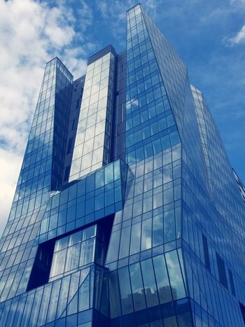 The Architect - 2016 EyeEm Awards View From Below Office Building Skyscraper Glass Reflections Mirror Windows Building Architecture Blue Lines, Shapes And Curves Corners Aesthetics