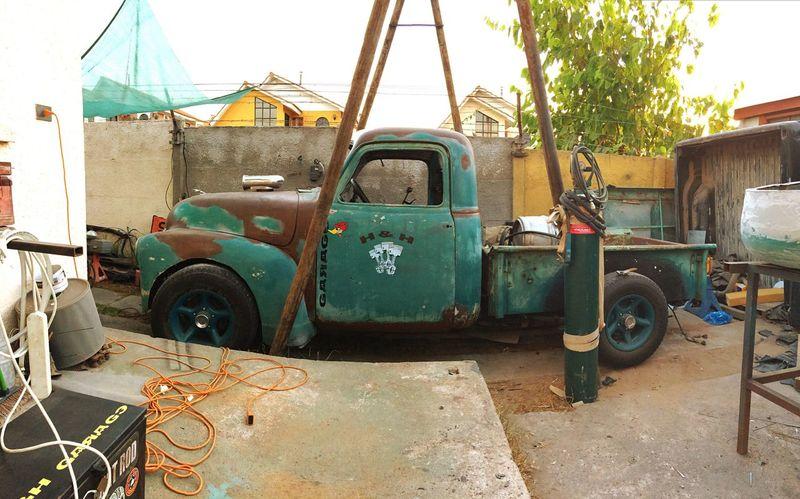 Chevy RatRod Mechanic Enjoying Life Garage Working Chevy Truck Ratrods My Hobby Natasha !!