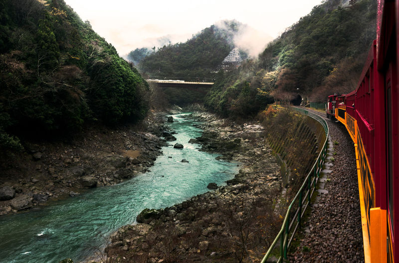River Riverbank Riverside Riverscape Train Train Tracks Scenery Landscape Nature Nature Photography Natural Beauty Feel The Journey