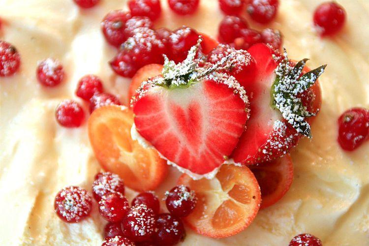 Full Frame Shot Of Fruit Tart