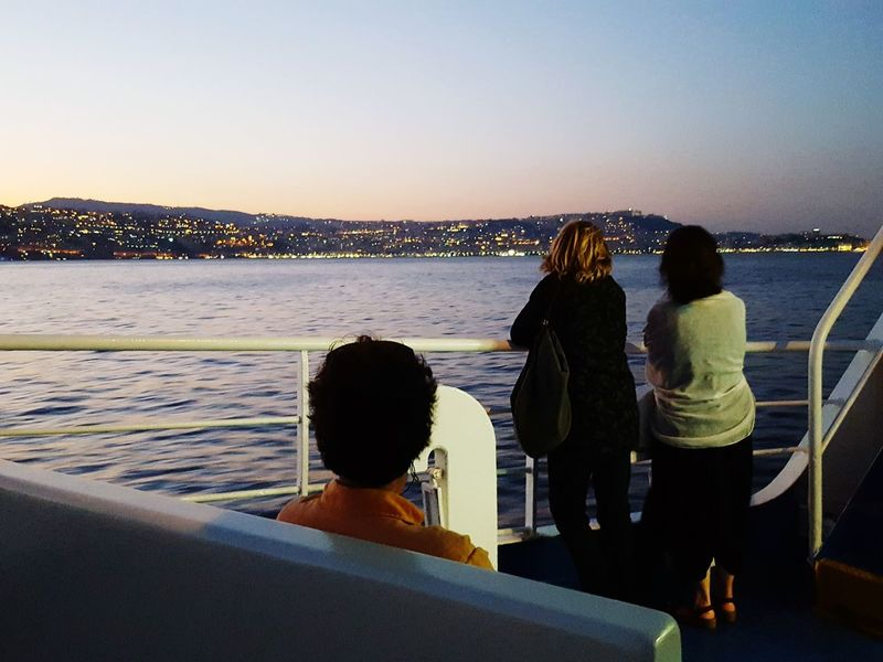 Showcase July Traveling Night Photography Travelers From The Boat Napoli ❤ Naples Is Wonderful Napoli By The Sea Italy Holidays Night Lights Nightphotography Peoplephotography People Watching