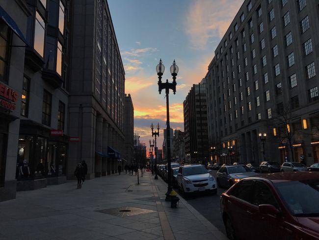 Sunset Sky Clouds Sun MobileSky The City Light