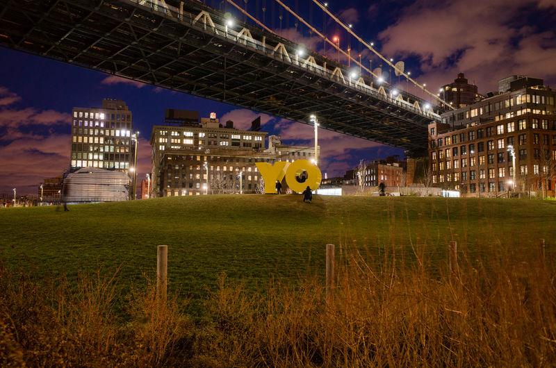 Brooklyn Bridge Park (Main Street), Dumbo, March 2016 28mm Brooklyn Brooklyn Bridge Park Cities At Night DUMBO Manhattan Bridge Night Lights NYC Ricoh Gr Yo The Architect - 2016 EyeEm Awards