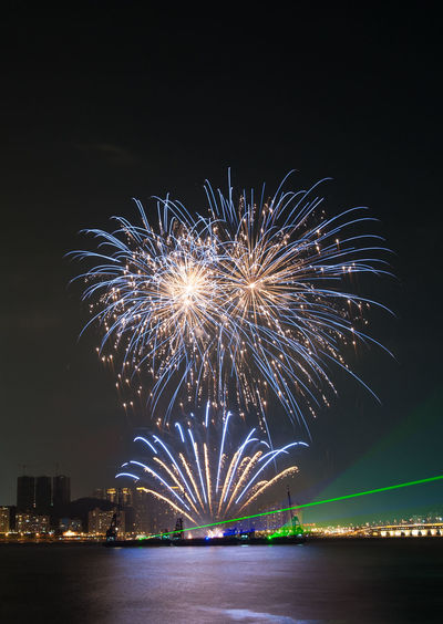 Scenic View Of Firework Display At Night