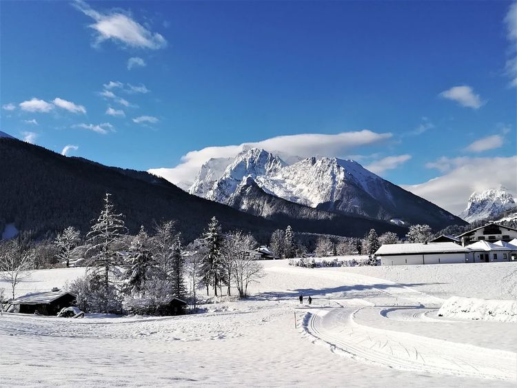 Schönau Am Königsee Winter Scenery Beauty In Nature Mountain Outdoors Snow Snowcapped Mountain Winter