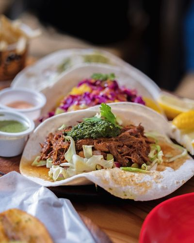 Tacos. Food Food And Drink Ready-to-eat Freshness Mexican Food Still Life Indoors  Serving Size Taco Wrap Sandwich No People Plate Indulgence Close-up Selective Focus Tortilla - Flatbread Table Stuffed Fast Food Healthy Eating Food Stories