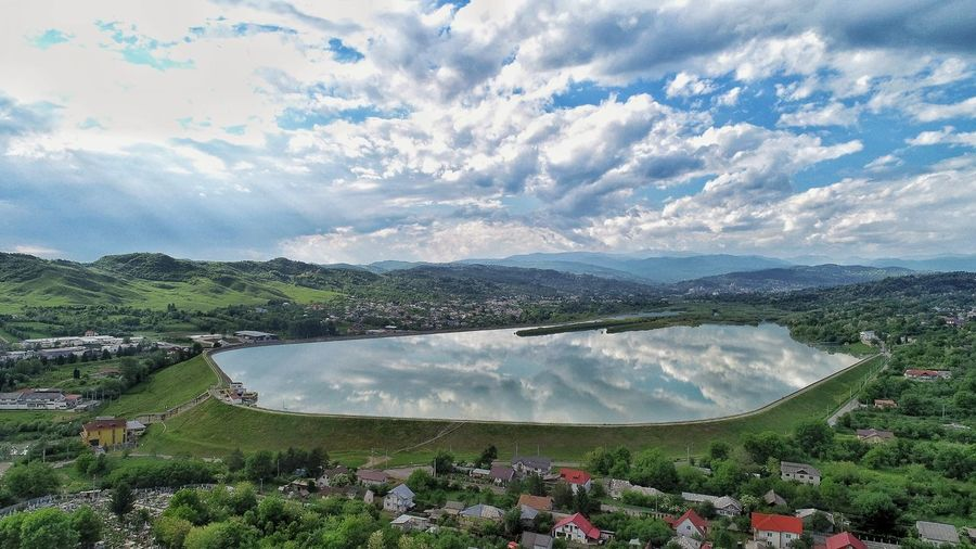 Aerial Photography River Summer Exploratorium Aerial Shot Nature Photography EyeEmNewHere EyeEm Best Shots EyeEm Nature Lover EyeEm Selects Water Spraying Agriculture Mountain Sky Cloud - Sky Foreground Countryside Lakeside Scenic View Calm Green