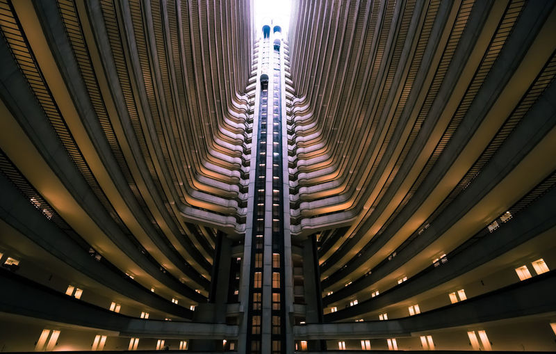 Built in 1985 by Atlanta architect John C. Portman, the Atlanta Marriott Marquis still feels well ahead of its time. Angles Architectural Feature Architecture Art Building Built Structure Concept Design Elevator Engineering Full Frame Geometry Interior Leading Lines Light Low Angle View Modern Pattern Perspective Repetition Science Fiction Structure Symmetry Vertical Symmetry Wide Angle