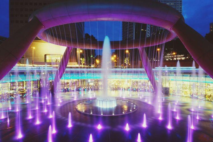 Fountain Of Wealth City Lights Singapore EyeEm Meetup Night Lights