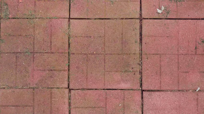 Garden Walkway LG V30 Another Brick In The Wall Twisted Tuesday Backgrounds Full Frame Textured  Red Tile Pattern Close-up Paving Stone Footpath