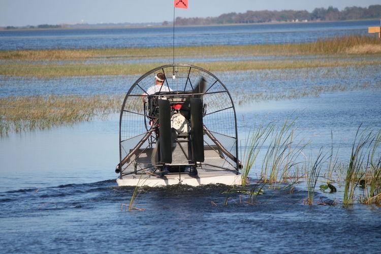 Airboat Day Florida Winter Grass Lake Toho Outdoors Swamp Water