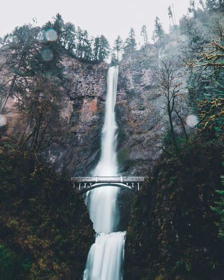 Multnomah Falls Multnomah Portland Architecture Beauty In Nature Blurred Motion Day Environment Falling Water Flowing Flowing Water Forest Land Long Exposure Motion Nature No People Outdoors Plant Power In Nature Scenics - Nature Tree Water Waterfall