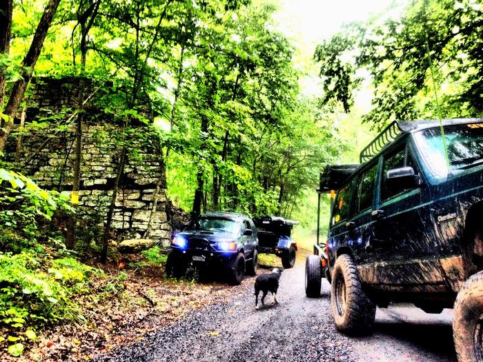 Our Overlanding team in the George Washington National Forest, Approx. 1 month ago Jeeping Cherokee Xj Overlanding Explore Toyota Jeep Life Adventure Nature Outdoors Offroad Mountains LovingLife Smittybilt CVTtents GetOutThere Camping