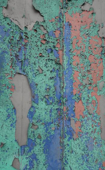 Abandoned Built Structure Close-up Decay Multi Colored Pealing Paint Peeled Peeling Off