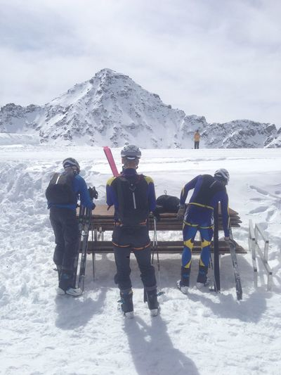 3 Adventure Gear High Altitude Mountain Patrouille Des Glaciers Preparation  Ski Skiers Snow Sport Team Winter
