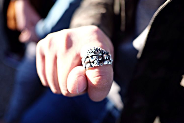 Hand With Ring Showing Fig Sign