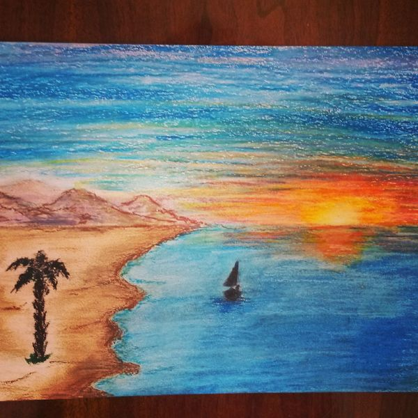 Painting Sunset Beach