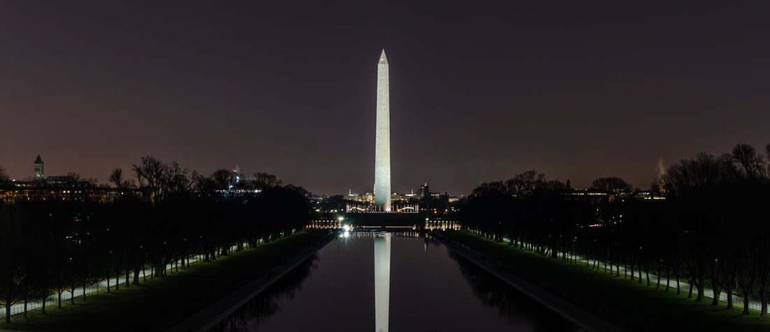 Architecture Built Structure City Illuminated Monuments Night No People Outdoors Sky Travel Destinations Tree Washington, D. C. Water