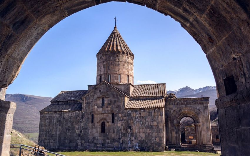 Tatev Monastery Tatev Armenia Architecture Built Structure Religion Arch History Building Exterior Clear Sky Outdoors Sky Spirituality No People Day