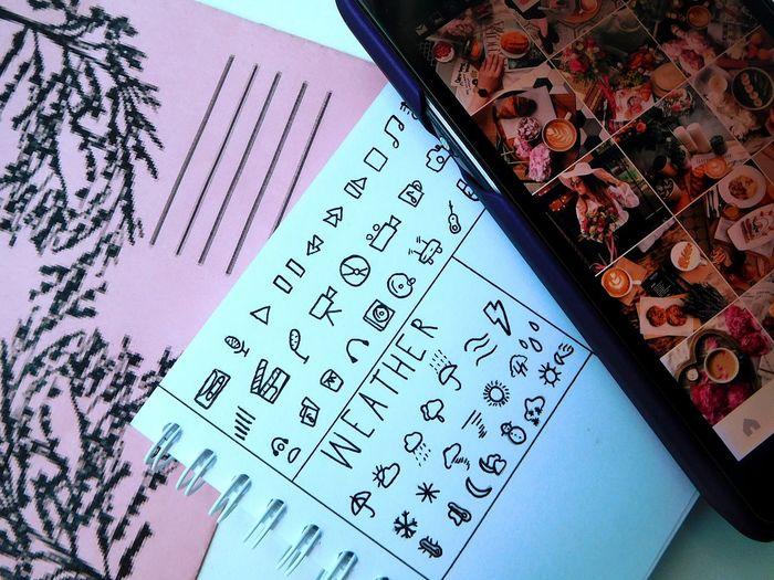 блокнот телефон инстаграм конвертировать Notebook Photo Phone Weather Music Thirdeyeemphoto