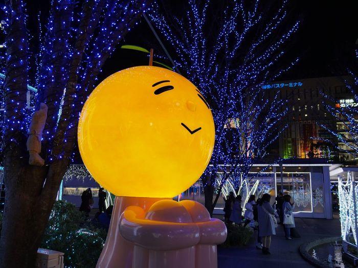 Happy Christmas !! by Yuzu-taro ( ゆず太郎 ) : JR HAKATA Station Hakata side Square. FUKUOKA City Japan. Panasonic LUMIX GX8+LUMIX G VARIO 14-45/F3.5-5.6 28mm No Filter No edit No Crop. HakataScape Full Frame Micro Four Thirds 博多口 ゆず太郎 Winter Wonderland Reflection No Edit No Filter Looking Up Illimination Sitting Outside Hakata 28mm Night Large Group Of People Outdoors Crowd Illuminated Yellow Christmas Decoration People