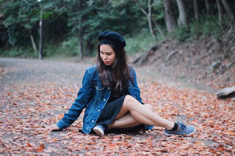 The real beauty of a woman is when you know her heart. Japan portrait of a friend Fall Portrait Photography Portraits Of EyeEm Millenials Portrait Of A Woman Nature Photography Nature_collection Portrait Young Adult Young Women One Person Long Hair Full Length Hairstyle Sitting Beauty Hair Casual Clothing Women Land Adult Teenager Leisure Activity Autumn Tree Nature Depression - Sadness Outdoors Autumn Mood