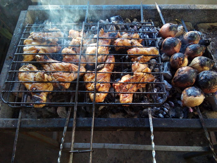In My Mouf Ready To Grill... Barbecue Grill Yummy Grilled Onion Grill Chicken White Meat.