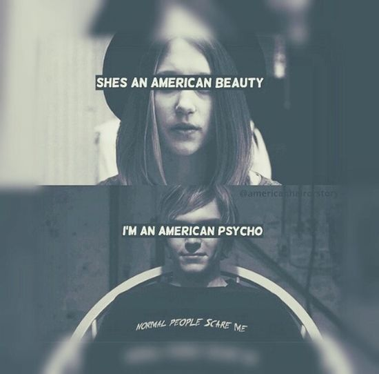 She Check This Out American Beauty / American Pysho Fall Out Boy Psycho Patrick Stump WOW Black & White Girl Movies