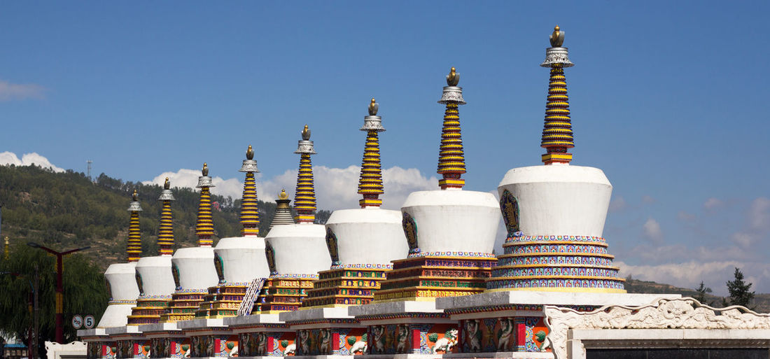 Ta'er Monastery Tibet Travel Tibetan Buddhism Architecture Building Exterior Clear Sky Day Nature No People Outdoors Place Of Worship Religion Sky Spirituality