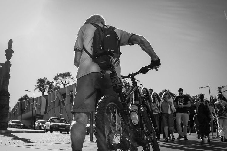 The rider Adult Black And White Bycicle CyclingUnites Day Horizontal Men Monochrome Photography Outdoors People Person Real People Sky Street Photography