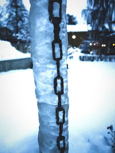 Frozen chains Cold Temperature Winter Snow Weather Ice Frozen Icicle Chain Day Close-up Nature Outdoors No People Frost Beauty In Nature Water