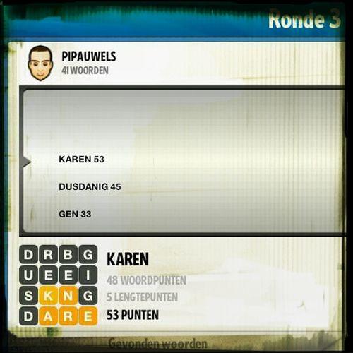 Karen. Niet enkel een naam voor topvrouwen. Ook nog een top-woord in #Ruzzle! @V_lexx @Karamelleke