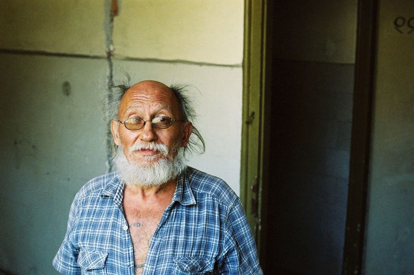 Decay Adult Beard Beauty In Decay Close-up Day Dear Exploration Eyeglasses  Homeless Indoors  Mustache One Man Only One Person One Senior Man Only People Portrait portrait of a friend Punk Is Not Dead Real People Senior Adult Senior Men Urban