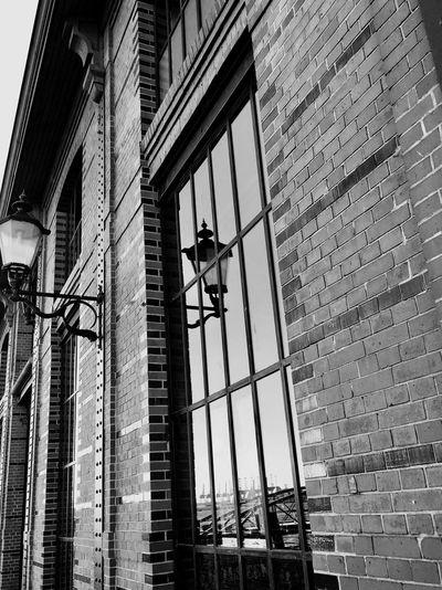 Hamburg Fischmarkt in Black and White Reflection Mirror Hamburg Close-up EyeEm Gallery Eye4photography  EyeEmNewHere EyeEm Best Shots First Eyeem Photo Blackandwhite Architecture Building Exterior Built Structure Low Angle View Window Day No People City Outdoors