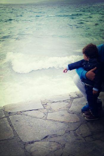 Little Boy Wonders Mykonos,Greece 2014 Walkabout