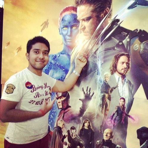 Fun At Pose Look At My Hand. Future&past Xmen Movie Time #WearBeinghuman #pvrcinema #Vacations..Ting.;)
